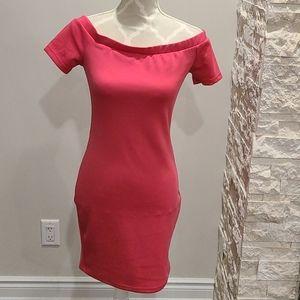 UK2LA pink off the shoulder dress